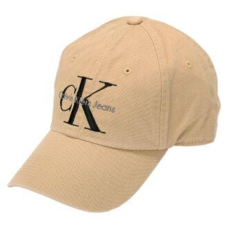 Calvin Klein BASE BALL CAP Calvin Klein baseball cap hat logo cap snapback cap CK khaki beige