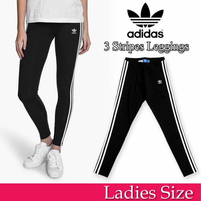 アディダス ウィメンズ レギンス スパッツ 黒 adidas originals WMNS 3STR LEGGINGS AJ8156 レディース ブラック