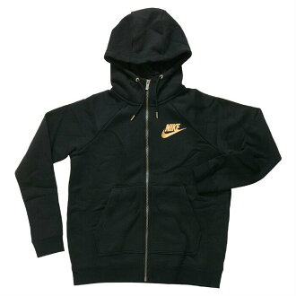 Until shopping marathon period 21st 20:00 - 28th 2:00! Nike sportswear women rally full zip parka NIKE NSW Womens Rally Hoodie Full Zip Metallic 874116 010 Lady's black (nike1095)