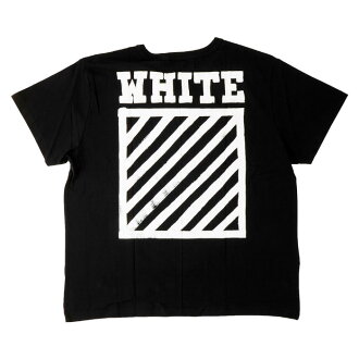 OFF-WHITE BRUSHED DIAGONALS S/S T-SH off white T shirt short sleeve black logo print 05P01Oct16