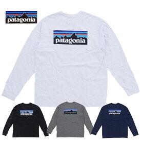 Patagonia パタゴニア M's L/S P-6 Logo Responsibili-Tee 38518 WHI / BLK / GLH / CNY ロングTシャツ ロンT 長袖 アウトドア 売れ筋(pat0129) pat0129