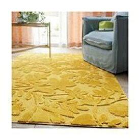 北欧風 ラグ ラグマット 絨毯 カーペット オシャレでカワイイ フロアマット スミノエ KIRIE HANA イエロー 133-80770-YE(REROOM)