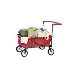 キャリーカート キャリーワゴン アウトドア ワゴン カート 折りたたみ 4輪 赤 荷台内寸780x520 キャンプ ピクニック イベント (REROOM)
