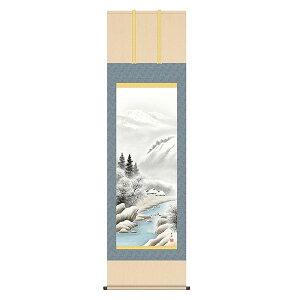 掛軸 床の間 四季情景 冬 深雪情景 小林秀峰 尺五 54.5×190 KZ2B4-25D