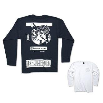 Under summarize UV long T shirt:RESCUE SQUAD [rescue squad]