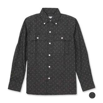 Sum pattern shirt (silk damask pattern)