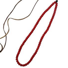 TADY&KING タディアンドキング goro's ゴローズ 魂継承 ホワイトハーツビーズ 赤ビーズ一連ネックレス tkb1c-18 メンズ レディース ビーズネックレス シルバーアクセサリー レジスト原宿