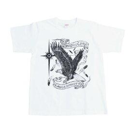 MAGICAL DESIGN×TADY&KINGコラボ イーグルプリントTee BLACK tkmd-01 マジカルデザイン タディアンドキング tシャツ メンズ 半袖 カットソー メンズ 半袖 トップス ストリート シルバーアクセサリー レジスト原宿