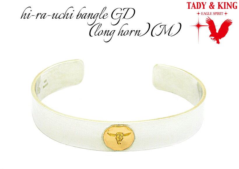 TADY&KING タディ&キング goro'sゴローズ魂継承 ロングホーン平打ちバングルGD(Mサイズ) TKB002-M
