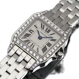 美品 カルティエ Cartier 時計 サントスドゥモワゼル SM アフターダイヤモンド 2698 ダイヤ レディース 腕時計【中古】2604