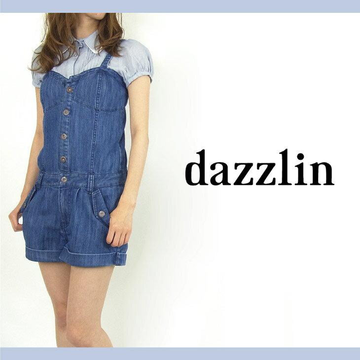 【dazzlin ダズリン】デニムミニオールインワン