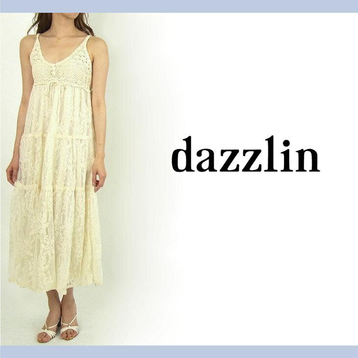 【dazzlin ダズリン】鈎針レースマキシワンピース