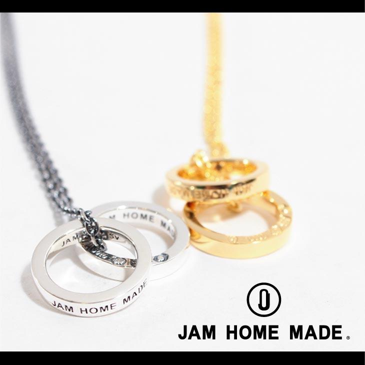【JAM HOME MADE(ジャムホームメイド)】平打ちダブルダイアモンドネックレス