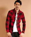 【AKM】CHECK HEAVY NEL FIVEBROTHER WRINKLE CHECK WESTERN シャツ