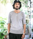 【CAMBIO(カンビオ)】Fraise Stitch U-Neck Half Sleeve Tシャツ