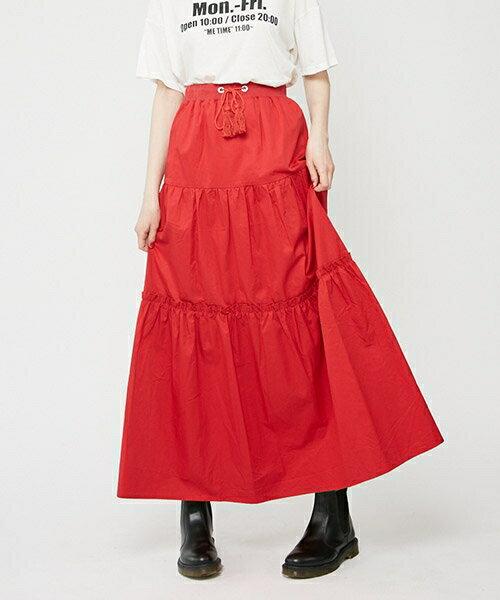 【jouetie(ジュエティ)】081740800101-フリルマキシSK スカート