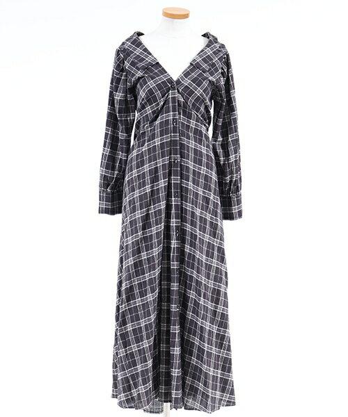 【snidel(スナイデル)】SWFO174111-チェックシャツロングワンピース