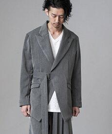【NO ID.(ノーアイディー)】TRストレッチボンテージピークドラペルJKT ジャケット(442006-612J)