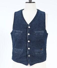 【Nudie Jeans(ヌーディージーンズ)】GUSTAV WORKER STRIPE ベスト(160541)