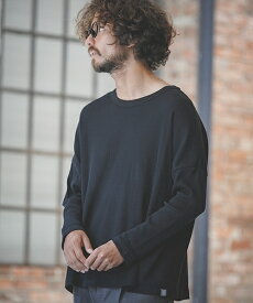 【ANGENEHM(アンゲネーム)】Waffle Wide Long Sleeve Cut sew カットソー(MADE IN JAPAN)(CA-049)