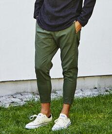 【一部サイズカラー予約販売10月下旬〜11月上旬入荷予定】【CAMBIO(カンビオ)】Stretch Saruel Tight Tapered Pants パンツ