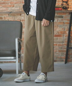 【ANGENEHM(アンゲネーム)】TR Tuck Wide Pants パンツ(MADE IN JAPAN)(CA-043)