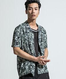 【ANSEASON ANREALAGE】patchwork print aloha shirt アロハシャツ(19sas124)