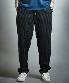 【EGO TRIPPING(エゴトリッピング)】STRIPE HERRINBONE EASY TROUSERS パンツ(623402)