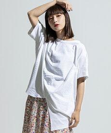 【ANSEASON ANREALAGE】patchwork jacquard short sleeve ball cut sew カットソー(19sas119)