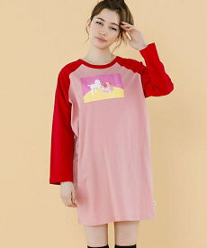 【Little sunny bite(リトルサニーバイト)】Doggy and sheep lonh tee Tシャツ(LSB-LTOP-158K)