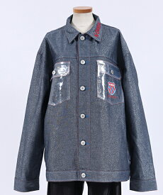 【JOY RICH(ジョイリッチ)】K-Swiss Metallic Denim Jacket ジャケット(1847800102)