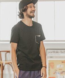 【wjk】CAMBIO別注 wjk Metal Leather Pocket Tee Tシャツ(7886lj22zm)