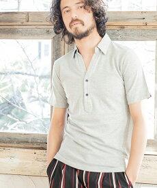 【CAMBIO(カンビオ)】Dot Accent Skipper Polo Shirts ポロシャツ