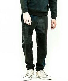 【ACANTHUS(アカンサス)】patchwork mix print easy pants パンツ(HJP1904)