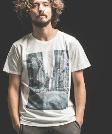 【Jih Nunc(ジーヌンク)】プリントTシャツ -ENJOY THE WORLD-(STC144)