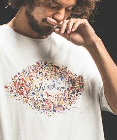 【Jih Nunc(ジーヌンク)】ビッグシルエットプリントTシャツ -COLOR PAINT LOGO-(STC146)