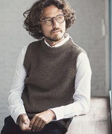 【一部サイズカラー予約販売10月中旬〜下旬入荷予定】【CAMBIO(カンビオ)】Wool Knit Vest ニットベスト(CBA9-002)