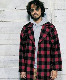【daboro(ダボロ)】【予約販売10月下旬〜11月上旬入荷】CHECK LONG COAT コート(DBL035)