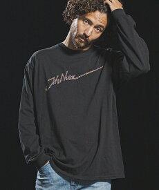 【Jih Nunc(ジーヌンク)】ロングスリーブプリントTシャツ -SPLASH LOGO-(STC151)