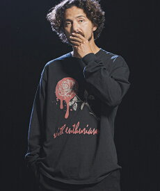 【Jih Nunc(ジーヌンク)】ロングスリーブプリントTシャツ -ROSE WITH ENTHUSIASM-(STC153L)