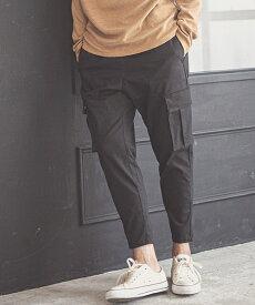 【一部サイズカラー予約販売10月下旬〜11月上旬入荷予定】【CAMBIO(カンビオ)】Stretch Saruel Tight Tapered Cargo Pants カーゴパンツ