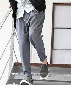 【一部サイズカラー予約販売11月中旬〜下旬入荷予定】【CAMBIO(カンビオ)】TR Tuck Wide Tapered Pants テーパードパンツ