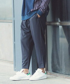 【ANGENEHM(アンゲネーム)】Emptiness Stripe Tuck Wide Tapered Easy Pants (MADE IN JAPAN) パンツ(ANG-058)