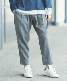 【ANGENEHM(アンゲネーム)】Check Tuck Wide Tapered Easy Pants (MADE IN JAPAN) パンツ(ANG-059)