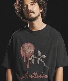 【Jih Nunc(ジーヌンク)】ビッグシルエットプリントTシャツ -ROSE WITH ENTHUSIASM-(STC153)