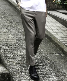 【MROLIVE(ミスターオリーブ)】CLASSIC OX POLYESTER -ONE PLEATS TAPERED EASY PANTS パンツ(M-20132)