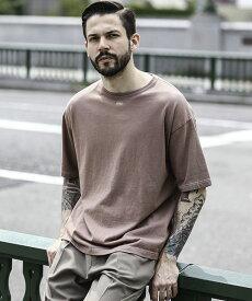 【MROLIVE(ミスターオリーブ)】OVERDYED COTTON -FREE! BIG SILHOUTTE T-SHIRT Tシャツ(M-20153)