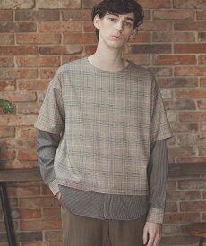【GLIMCLAP(グリムクラップ)】Layered design Long sleeve Pullover プルオーバーシャツ(010gls-ca)