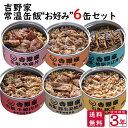 【販売開始特別価格】吉野家 常温缶飯【選べる】6缶セット 非常食に、夜食に、山登りに、ちょっと美味しい【送料無料】