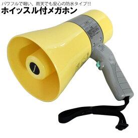 【中古】未使用 拡声器 メガホン ホイッスル付 Panasonic WD-U35 6W ハンディー型 防水 小型 軽量 応援 防災 送料無料